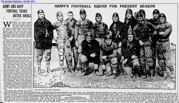 ArmyFB_1914_team_SundayVindicator_YoungstownOH_Oct251914