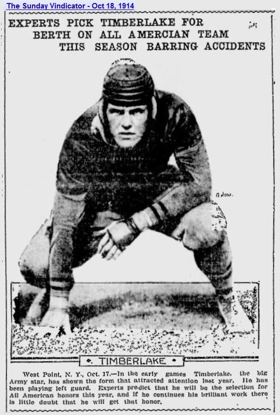 ArmyFB_1914_Timberlake_SundayVindicator_YoungstownOH_Oct181914