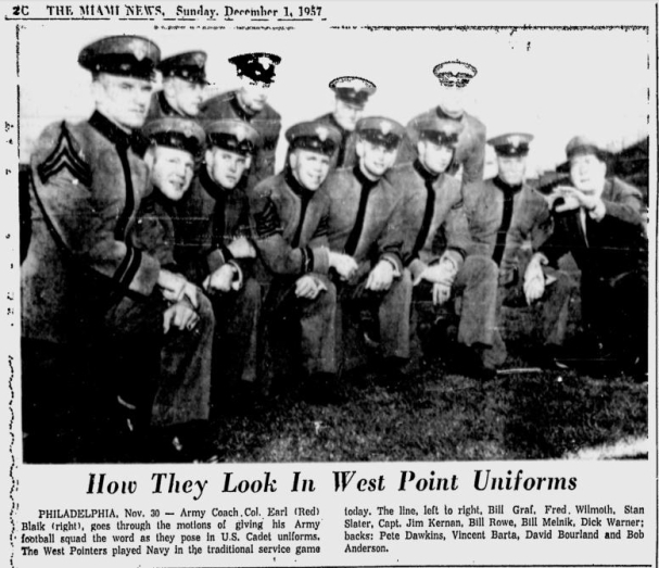ArmyFB_1957_Army-starters_MiamiNews_Dec11957