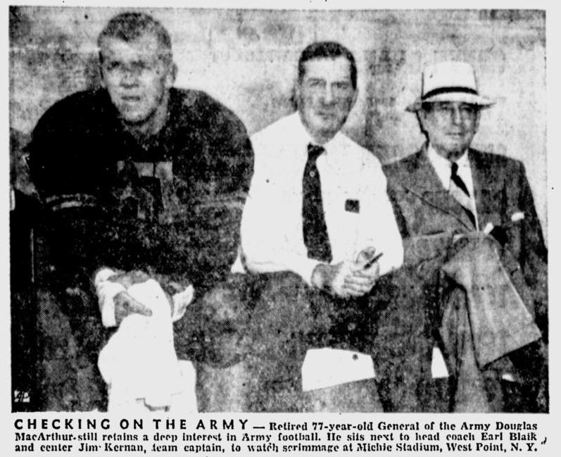 ArmyFB_1957_MacArthur_NewsDispatch_Oct101957