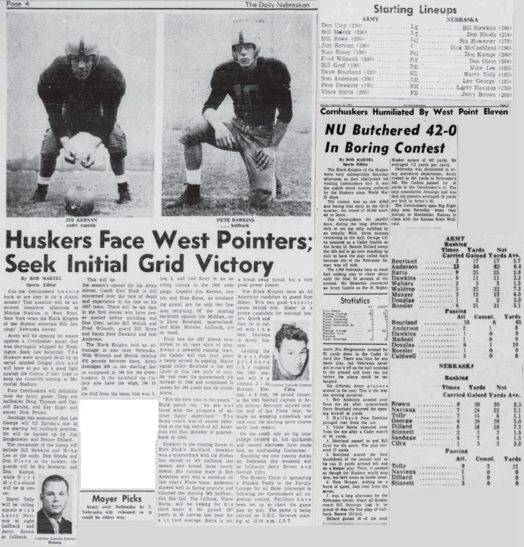 ArmyFB_1957_vsNebraska_DailyNebraskan_Sep281957