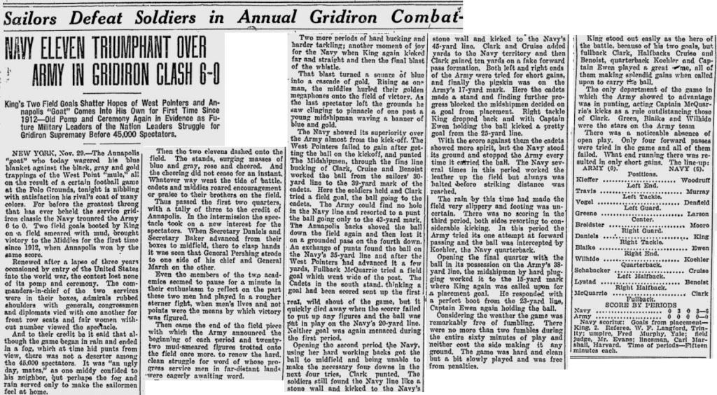 ArmyFB_1919_vsNavy_SundayChronicle_Nov301919