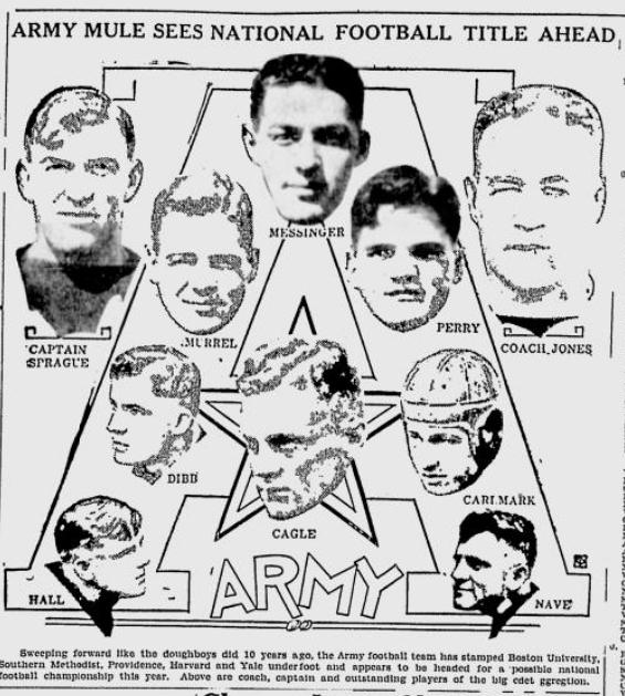 ArmyFB_1928_CoachJones-Players_YoungstownVindicator_Nov41928