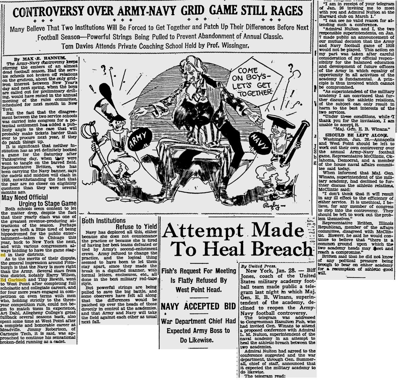 armyfb_1928_controversy_pittsburghpress_jan281928