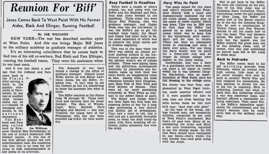 ArmyFB_1942_BiffJones-Returns_PittsburghPress_Jan241942