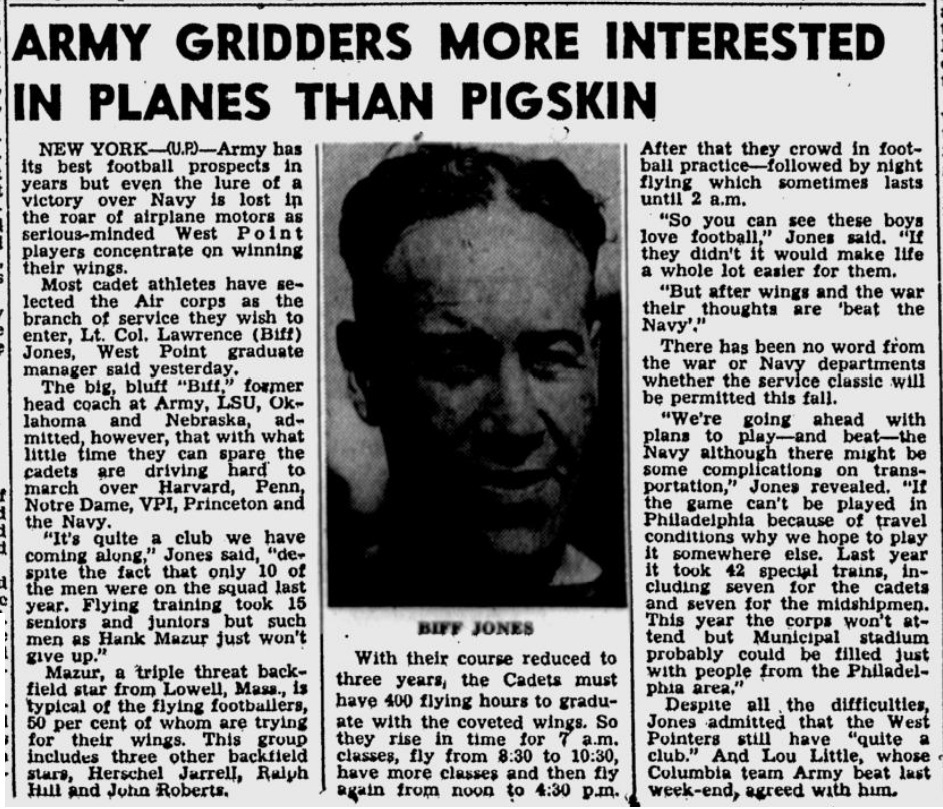 ArmyFB_1942_Gridders-Planes_StPetersburghTimes_Oct201942