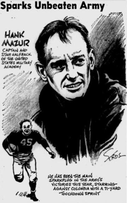 ArmyFB_1942_HankMazur_byJackSords_StPetersburghTimes_Oct251942