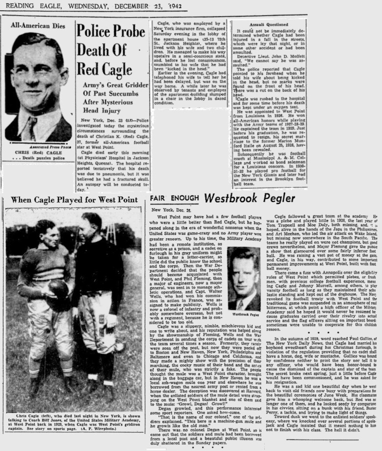 Cagle_Death_ReadingEagle_Dec231942