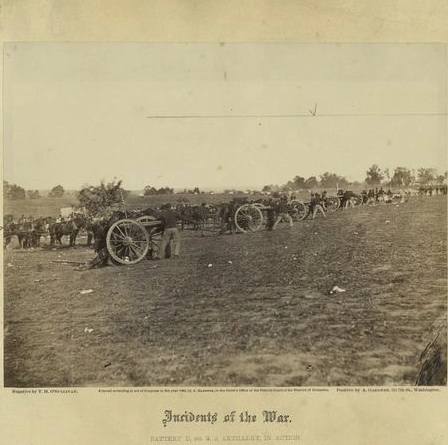 Battery D, 5th U S Artillery in action at Fredericksburg copy
