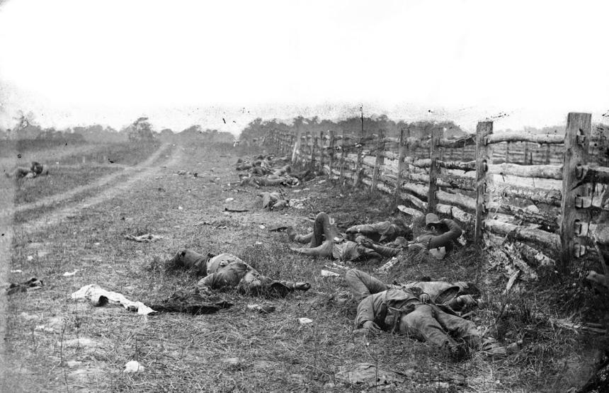 Confederate dead Hagerston Rd Antietam.jpg