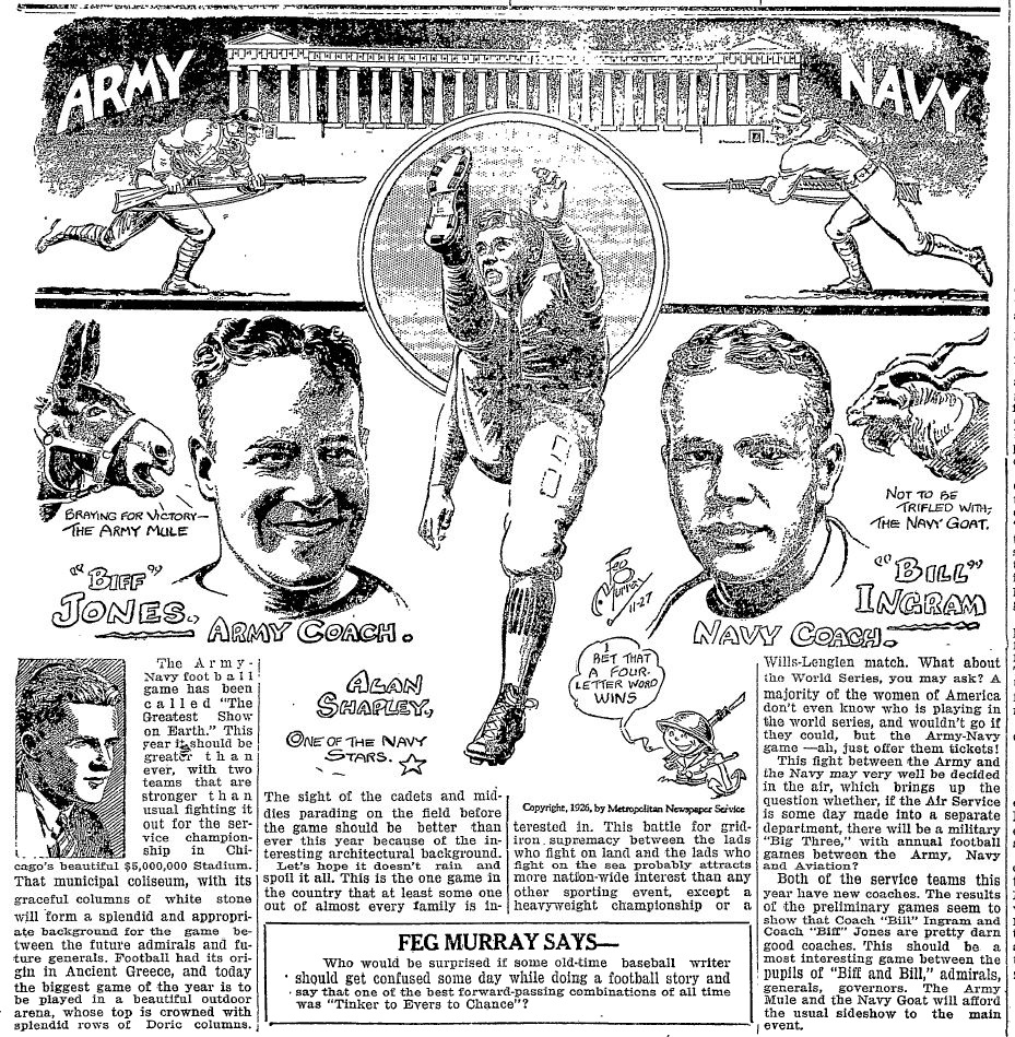 ArmyFB_1926_Army-Navy_byFegMurray_OgdensburgRepublican-Journal_Nov271926