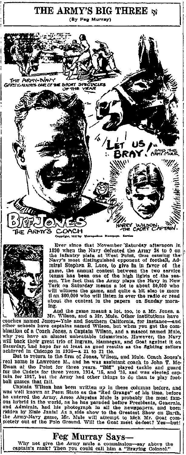 ArmyFB_1927_BiffJones-HarryWilson_byFegMurray_OgdensburgRepublican-Journal_Nov251927