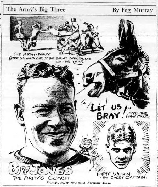 ArmyFB_1927_CoachJones-HarryWilson_byFegMurray_BuffaloEveningNews_Nov251927