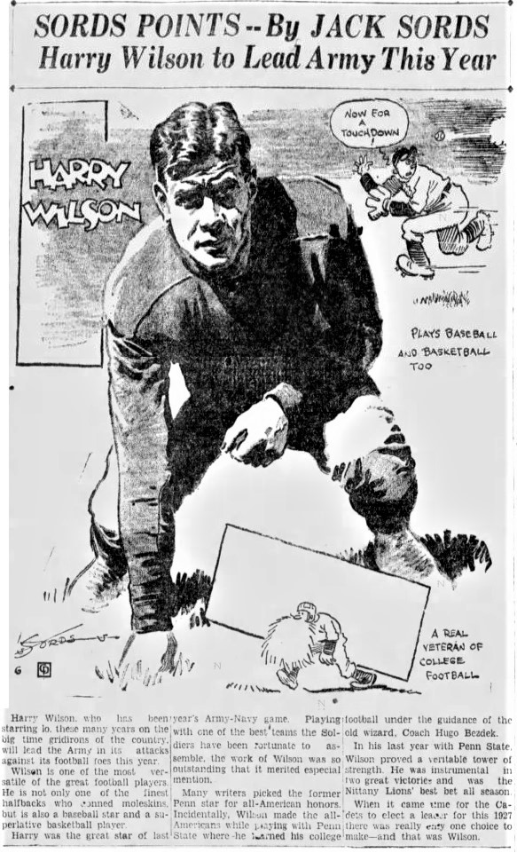 ArmyFB_1927_HarryWilson_byJackSords_News-Journal-MansfieldOH_Sep101927