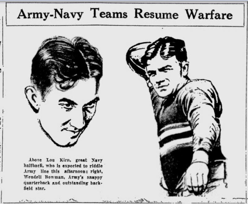 ArmyFB_1930_WendellBowman_byPap_TheTelegraph_Dec131930