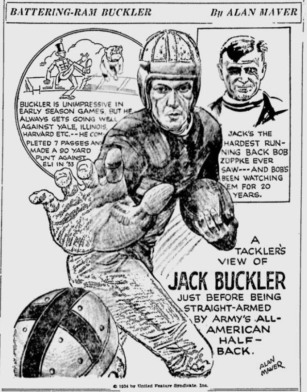 ArmyFB_1934_JackBuckler_byAlanMaver_SundayMorningStar_Oct281934