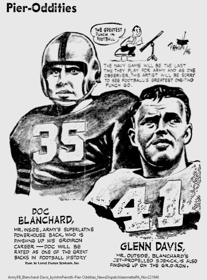 ArmyFB_1946_Blanchard-Davis_byJohnPierotti-Pier-Oddities_NewsDispatchJeannettePA_Nov221946 (1)