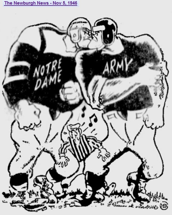 armyfb_1946_vsnd_gameofthecentury_byalvemeer_newburghnews_nov51946