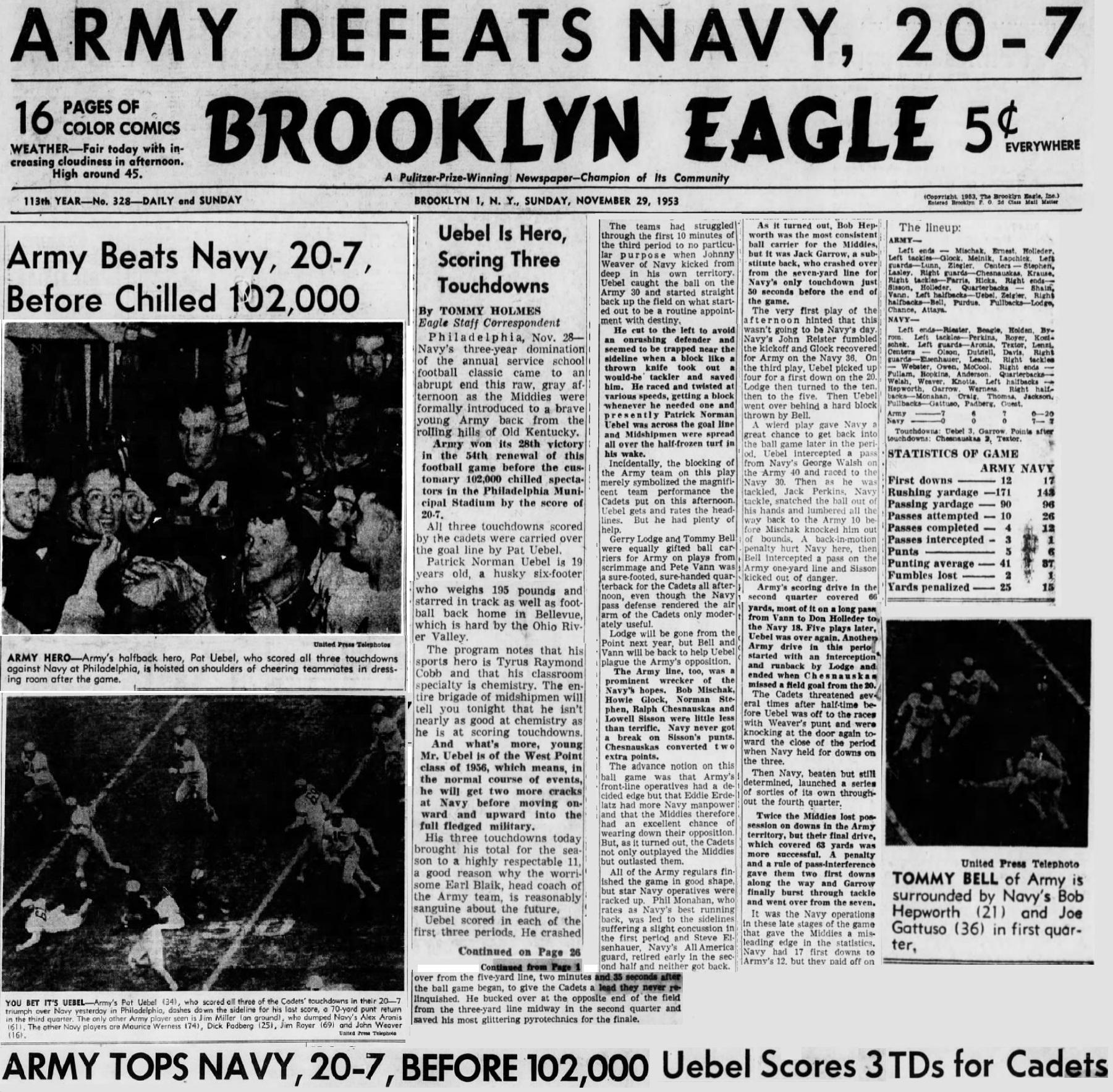 ArmyFB_1953_vsNavy_BrooklynDailyEagle_Nov301953