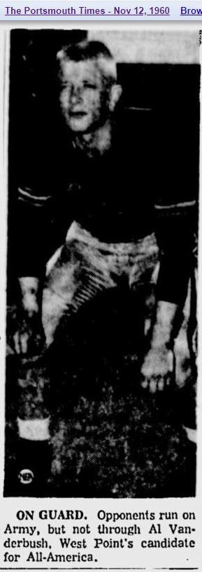 ArmyFB_1960_AlVanderbush_PortsmouthTimes_Nov121960