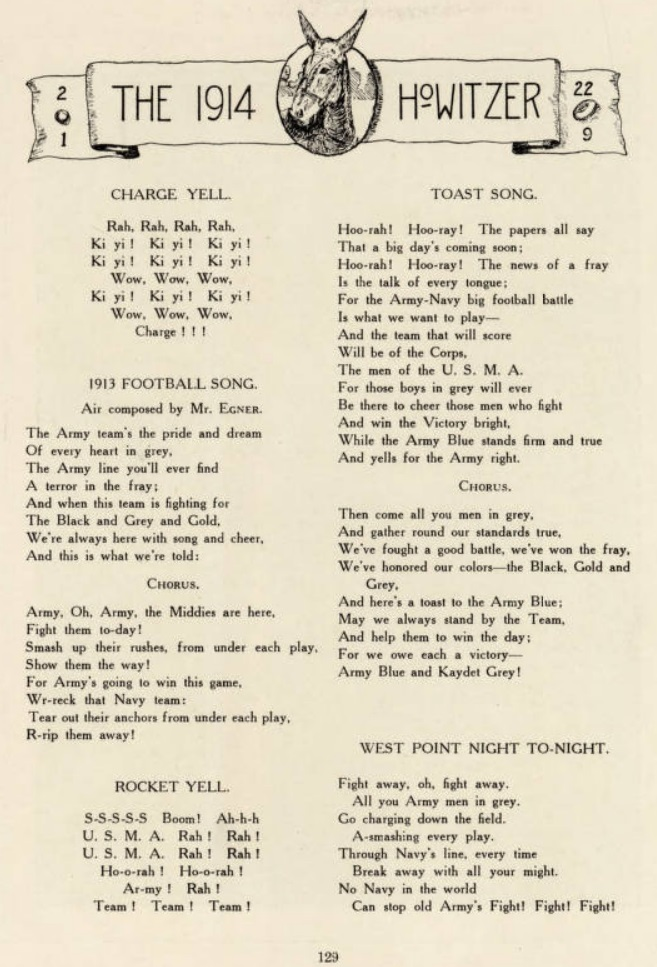 ArmyFB_1913_FightSongs_Howitzer1914