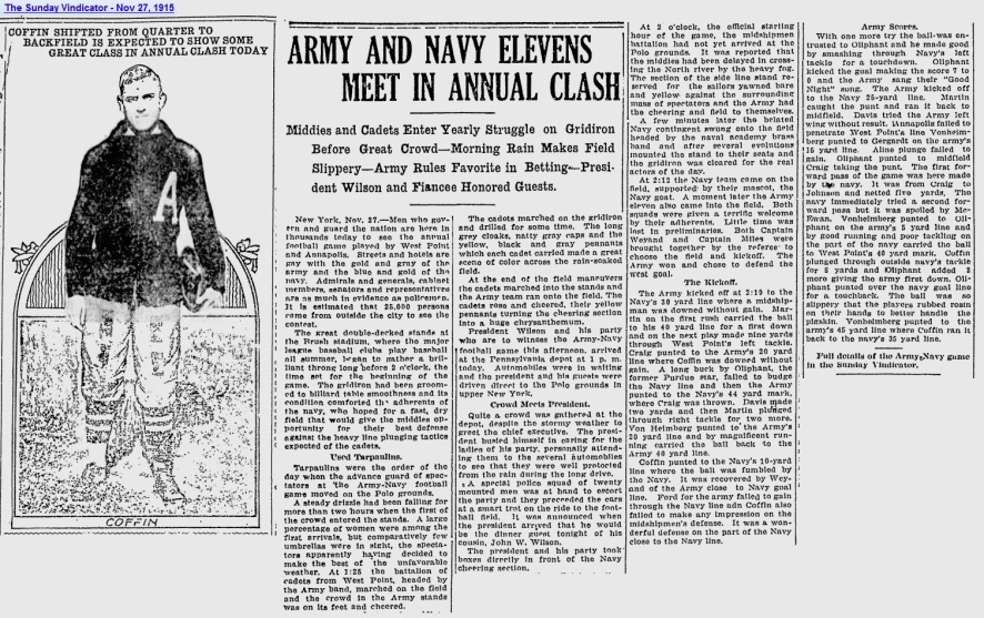 ArmyFB_1915_Coffin_vsNavy_SundayVindicator_YoungstownOH_Nov271915
