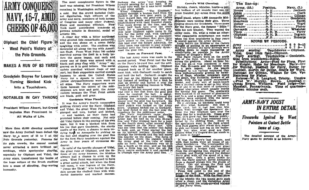 ArmyFB_1916_vsNavy_NYT_Nov261916