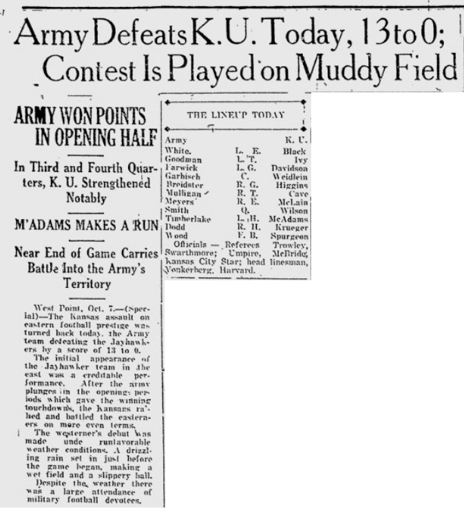 ArmyFB_1922_vsKU_LawrenceJournalWorld_Oct71922