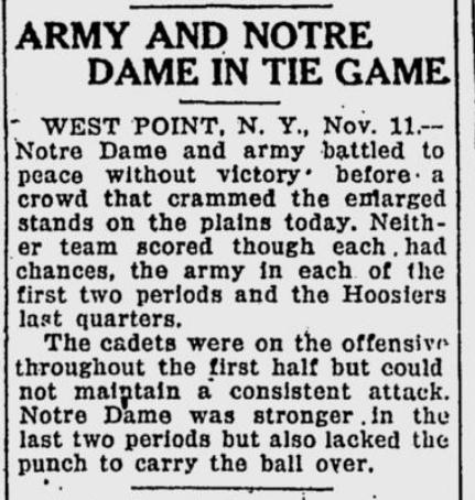 ArmyFB_1922_vsNotreDame_StPetersburgTimes_Nov121922