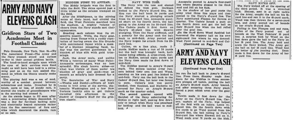 ArmyFB_1923_vsNavy_EveningTribune_Nov241923