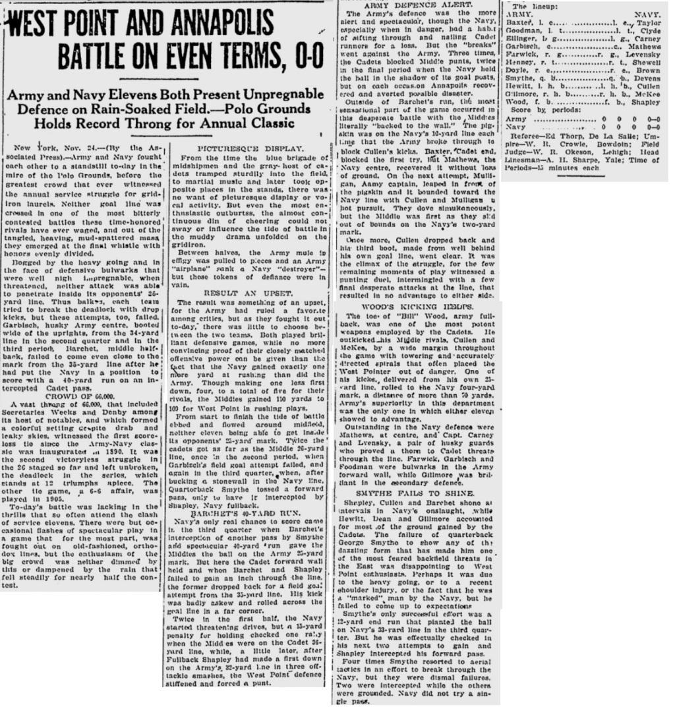 ArmyFB_1923_vsNavy_EveningTribune_Nov251923