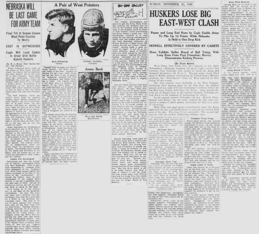 ArmyFB_1924_vsNebraska_DailyNebraskan_Nov22-251924