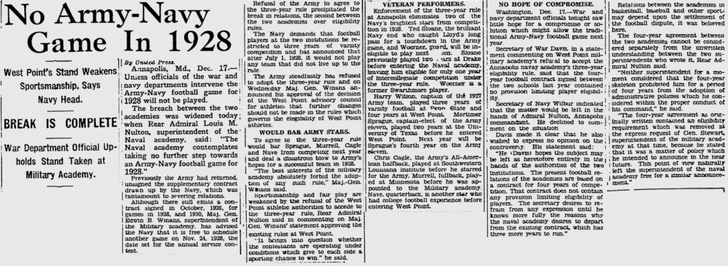 ArmyFB_1927_No-Army-Navy-in28_PittsburghPress_Dec181927