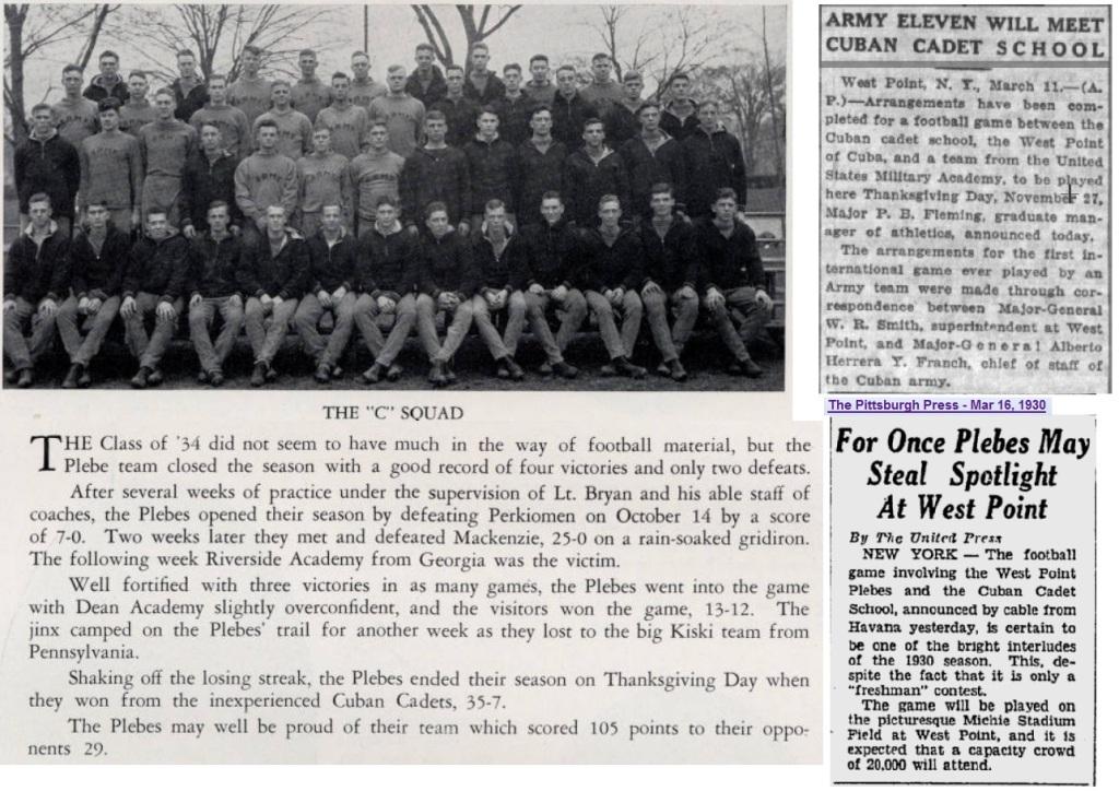 ArmyFB_1930_Cteam_Plebes