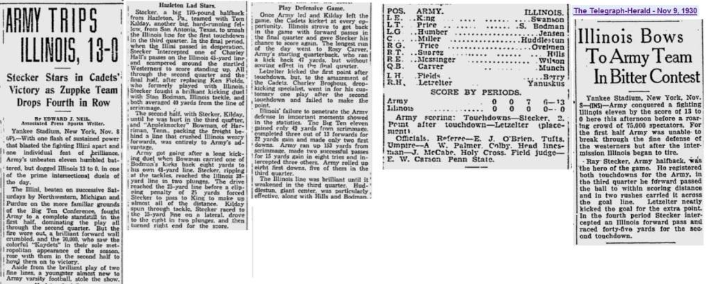 ArmyFB_1930_vsIllinois_Readingeagle_Nov91930