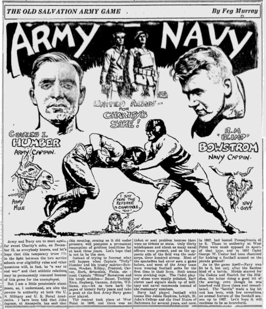 ArmyFB_1930_vsNavy_CharlesHumber-Capt_byFegMurray_SundayMorningStar_Dec71930