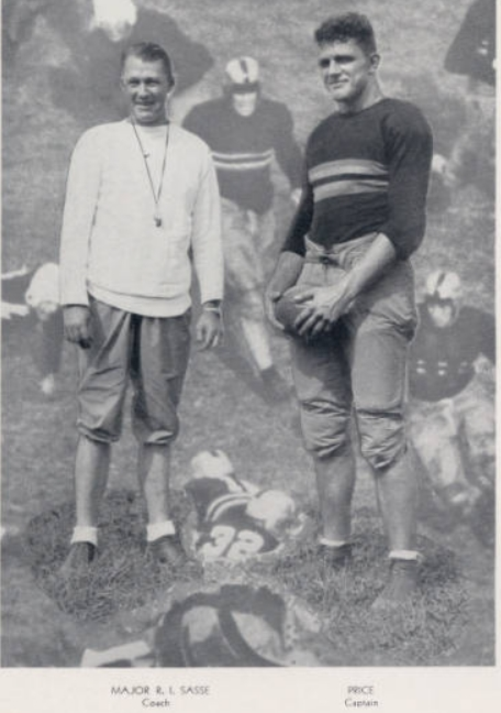 ArmyFB_1931_CoachSasse-Price-Captain