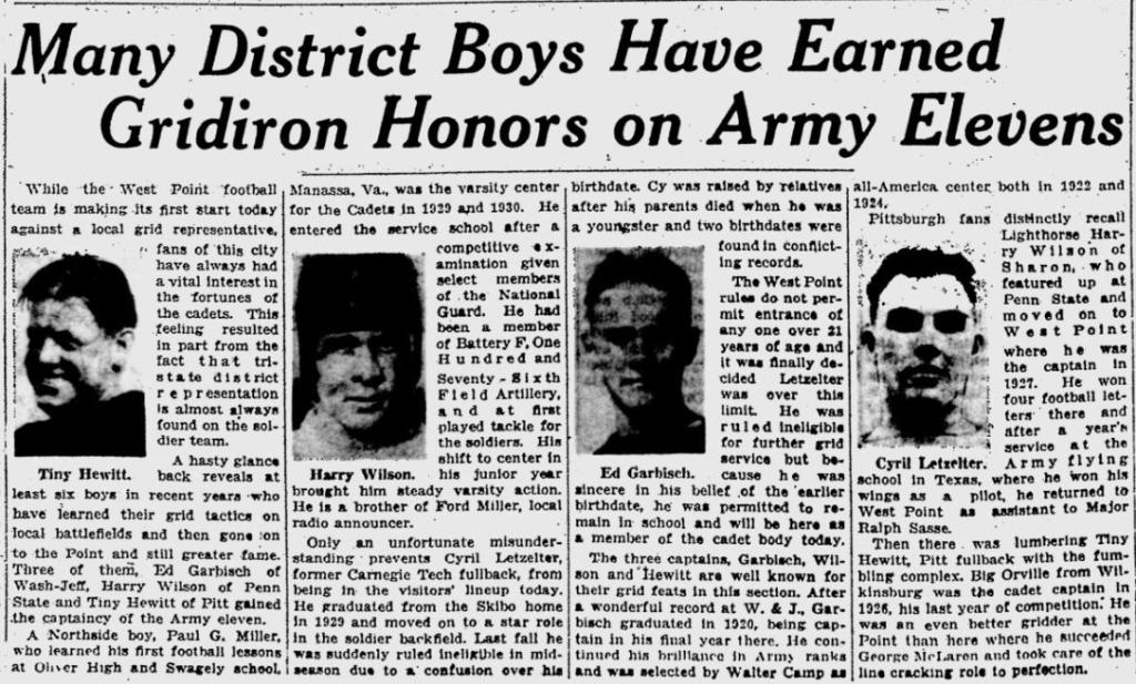 ArmyFB_1931_PA-players_PittsburghPostGazette_Nov141931