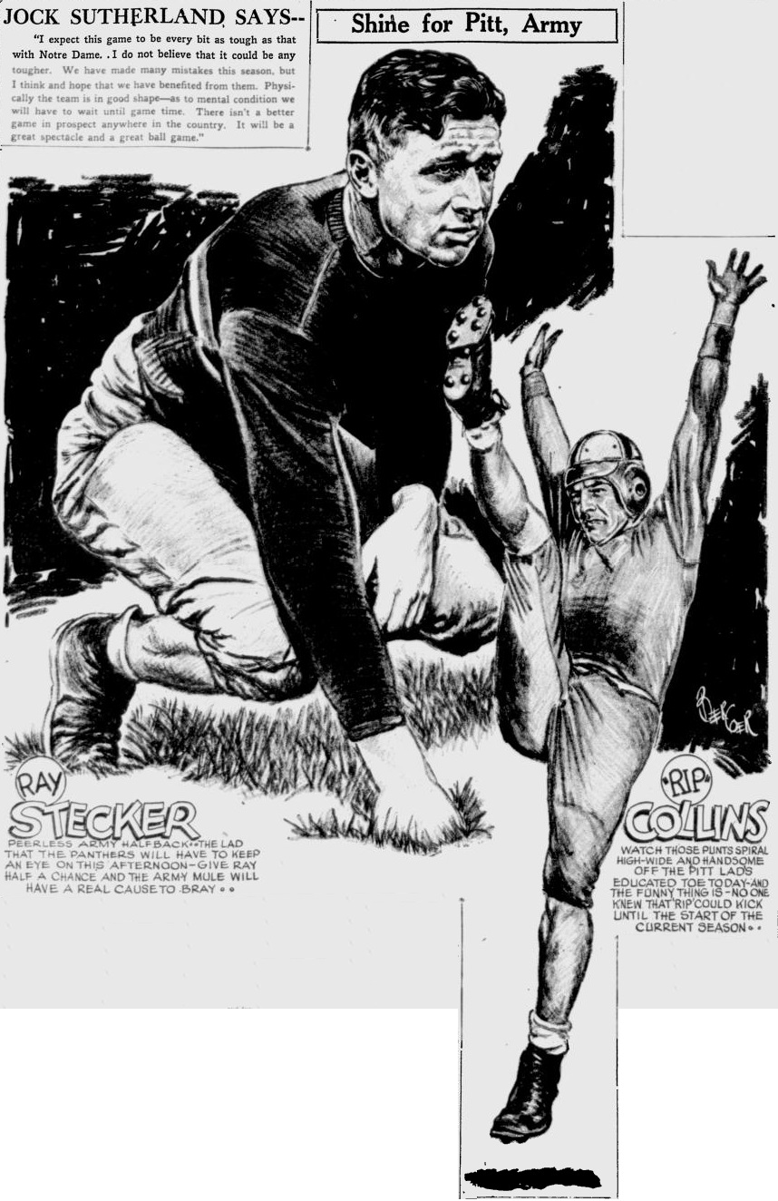 ArmyFB_1931_RayStecker_byBercoer_PittsburghPress_Nov141931