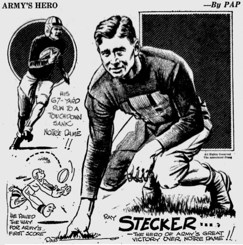 ArmyFB_1931_RayStecker_byPap_PrescottEveningCourier_Dec71931