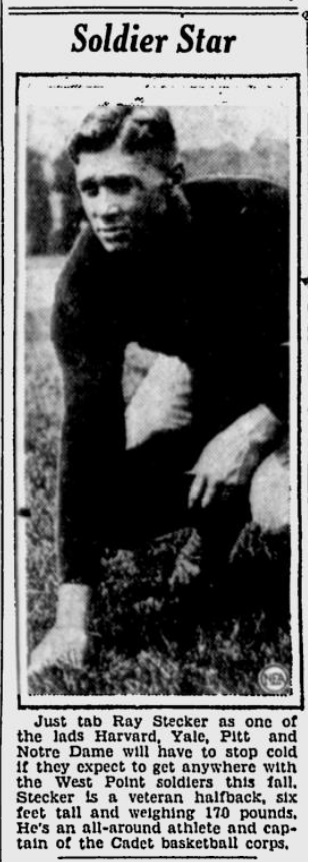 ArmyFB_1931_RayStecker_SpokaneDailyChronicle_Nov21931