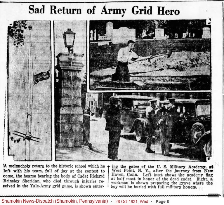 armyfb_1931_sheridandeath2_shamokinnews-dispatch_oct281931