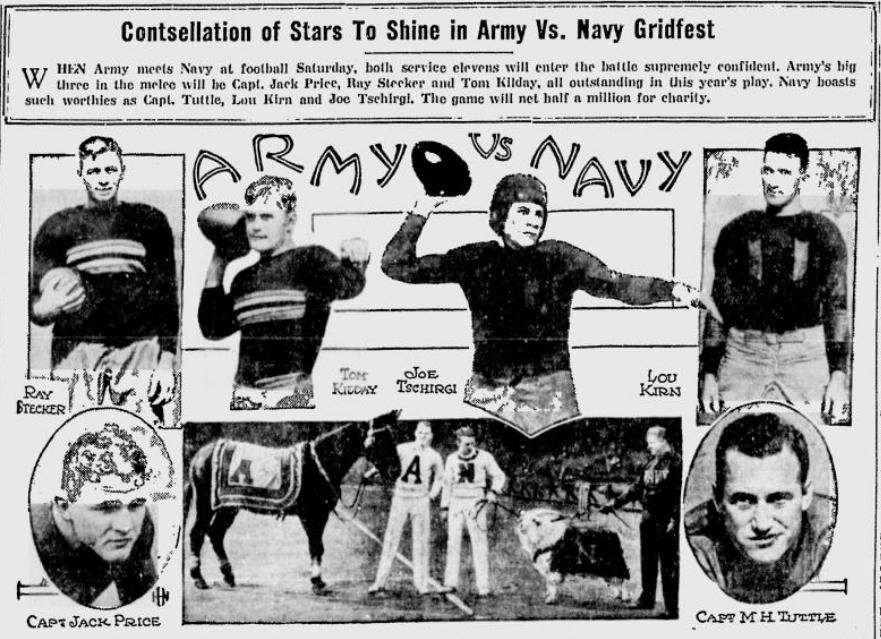 ArmyFB_1931_vsNavy-stars_DeseretNews_Dec111931
