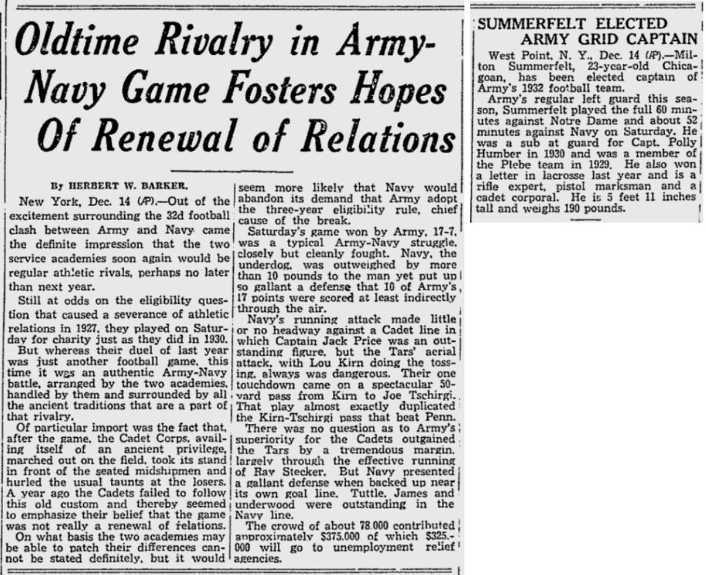 ArmyFB_1931_vsNavy_ReadingEagle_Dec111931