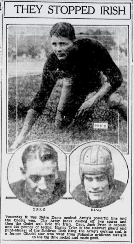 ArmyFB_1931_vsND_King-Trice-Price_HeraldJournal_Nov291931