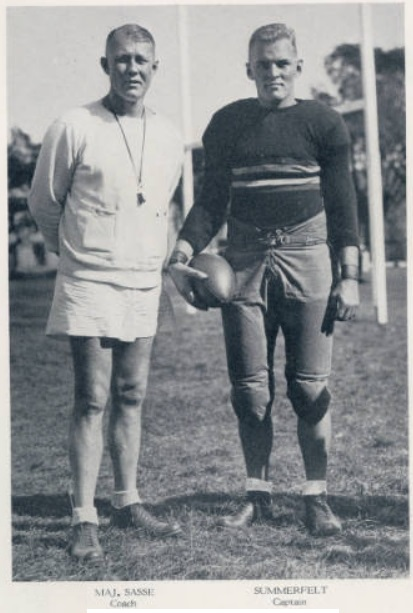 ArmyFB_1932_CoachSasse-Summerfelt-Captain