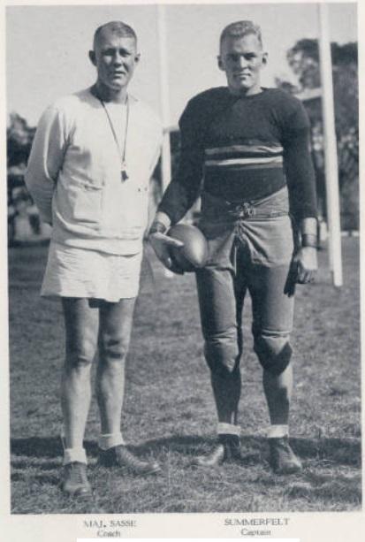 ArmyFB_1932_CoachSasse-Summerfelt-Captain