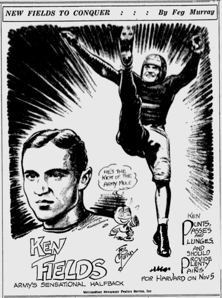 ArmyFB_1932_KenFields_byFegMurray_SundayMorningStar_Oct301932