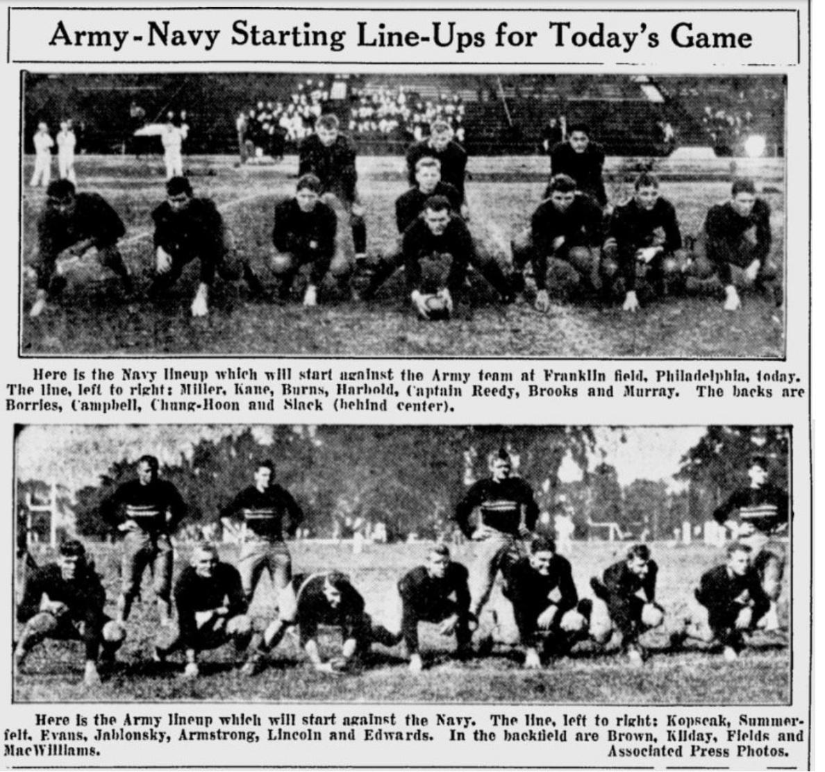 armyfb_1932_vsnavy-lineups_telegraph_dec31932