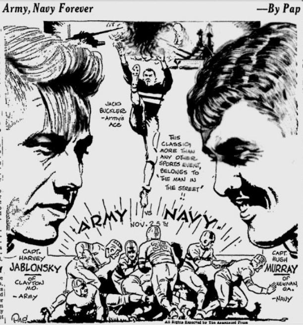 ArmyFB_1933_vsNavy-Jablonsky_byPap__SpokaneDailyChronicle_Nov271933